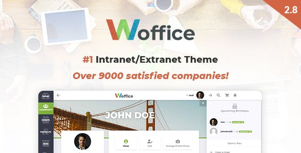woffice WordPress-Theme für Intranet und Extranet.