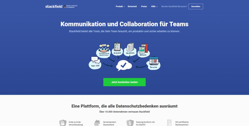 Agiles Projekt- und Aufgabenmanagement mit Stackfield aus Deutschland